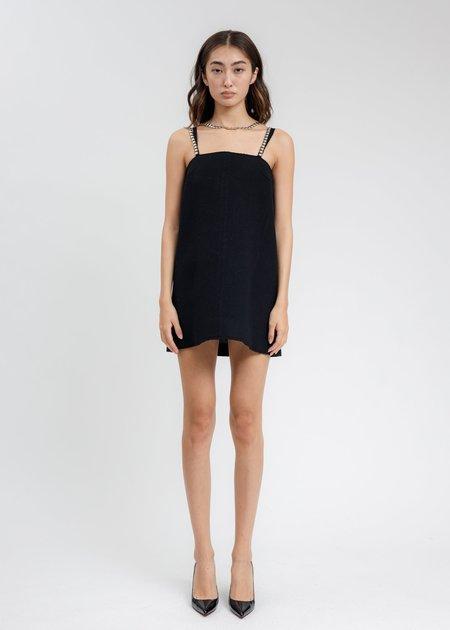 we11done Wool Oversized Sleeveless Mini Dress - Black