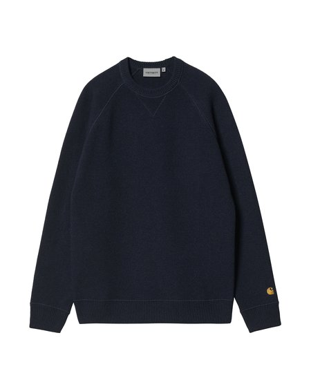 CARHARTT WIP Chase Sweater - Dark Navy/Gold
