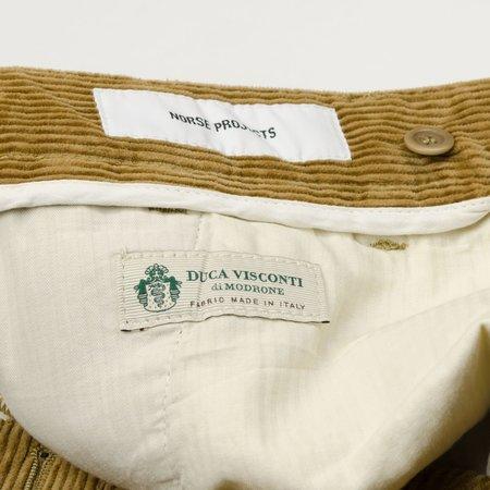 Norse Projects Aros Corduroy Trousers - Utility Khaki