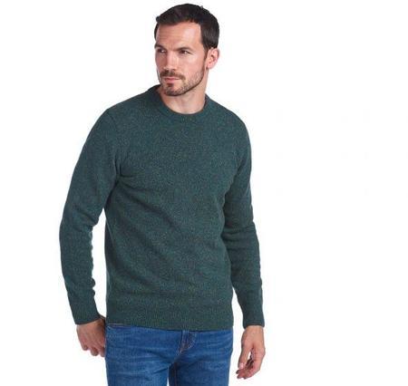 BARBOUR Tisbury Crew Neck Wool Sweater - Dark Aqua