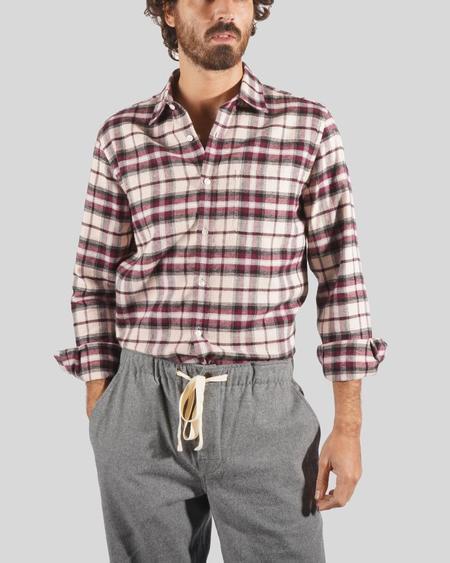 Portuguese Flannel Shirt - Raspberry