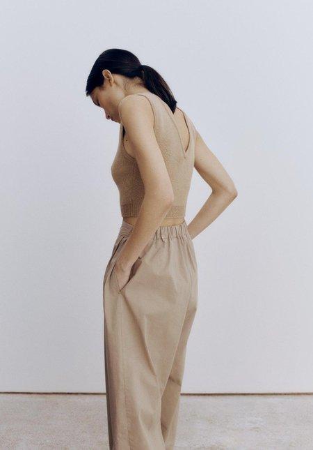 Monica Cordera Cotton Crossed Pants - Nomad