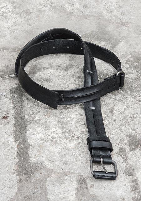 Wildhorn Slit Leather with Oxidized Steel Staple Belt