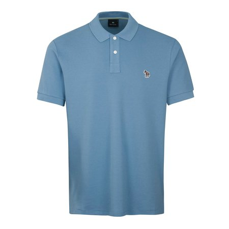 PS Paul Smith Zebra Reg Fit Polo Shirt - Sky