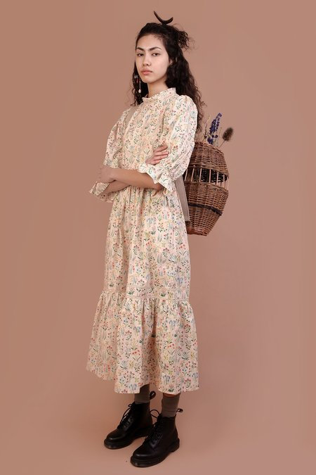 Meadows Amaryllis Dress - Folk Floral