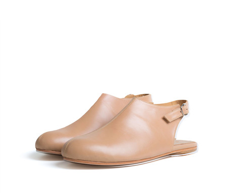 the palatines shoes acta high vamp slingback - tan smooth leather