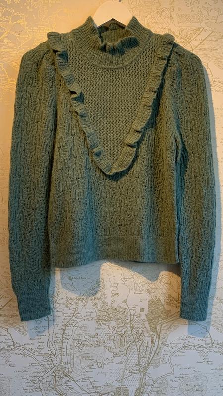 Veronica Beard Sorina Ruffled Sweater
