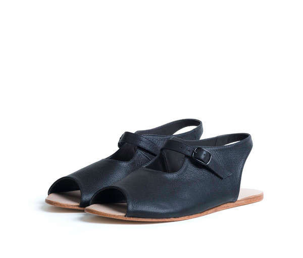 The Palatines Shoes Ratio Sandal - Black Leather