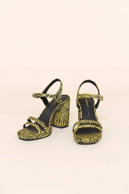 """""""INTENTIONALLY __________."""" Carmen Sandals - Lime Zebra"""