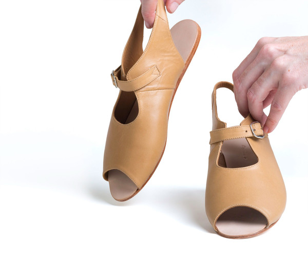The Palatines Shoes Ratio Sandal - Tan Leather