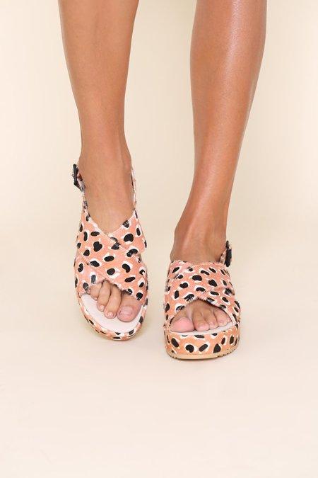 """""""INTENTIONALLY __________."""" Sum Sandals - Peach Cheetah"""