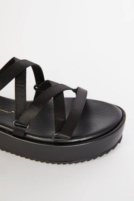 """INTENTIONALLY __________."" Sum 2 Sandals - Black"