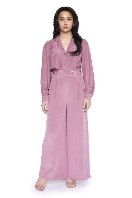 Christine Alcalay Amanda 4 Ply Silk Pant - Dusty Rose