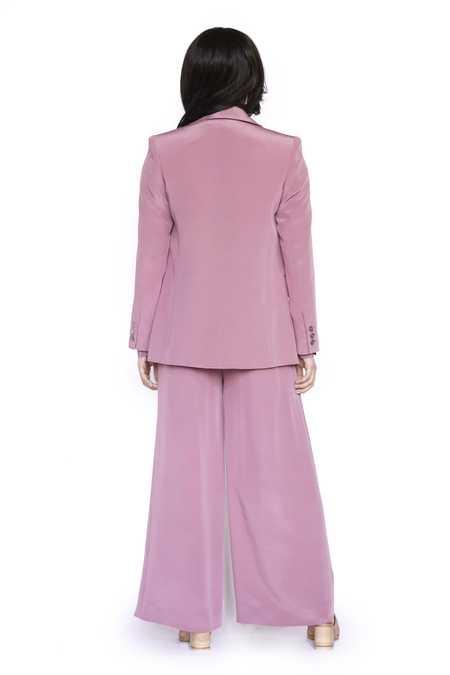 Christine Alcalay Samantha 4 Ply Silk Jacket - Dusty Rose