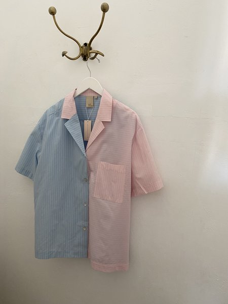Soft Focus Ss Lounge Shirt - Tutti Stripe