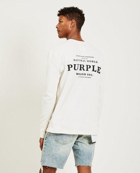 Purple Brand Sign and Wonders LS Tee - Ecru