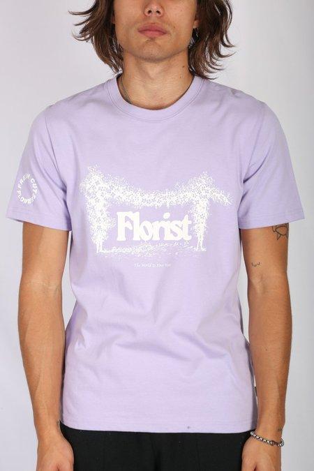 Fresh Cut Flowers Florist Arch Tee - Lilac