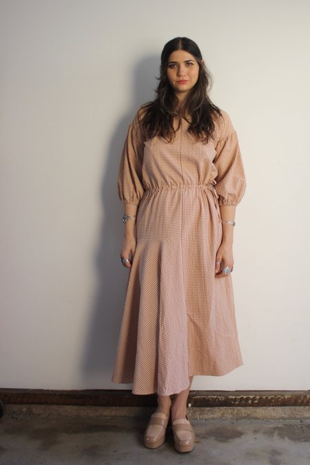 Diarte Camila Dress - Brown Gingham