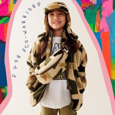 Kids Stella McCartney Child Fleece Jacket - Camo Print Green