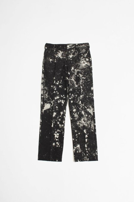 Schnayderman's Tailored wide trousers - sky dark blue/offwhite