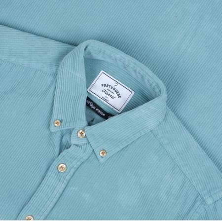 Portuguese Flannel LOBO Corduroy Shirt - Turquoise Blue