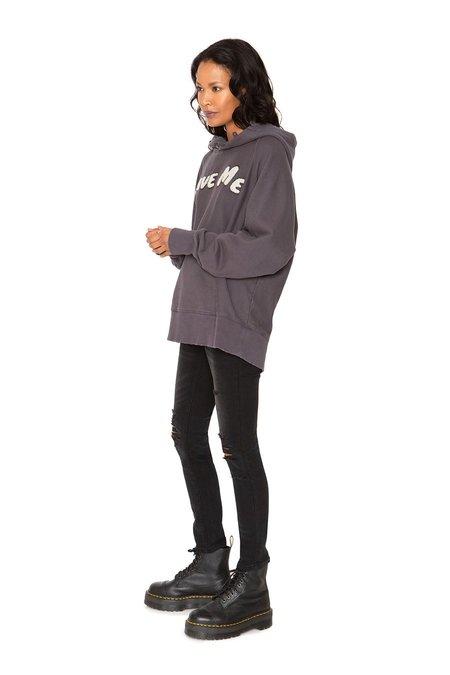 SANDRINE ROSE New Hood French Terry sweater - gray