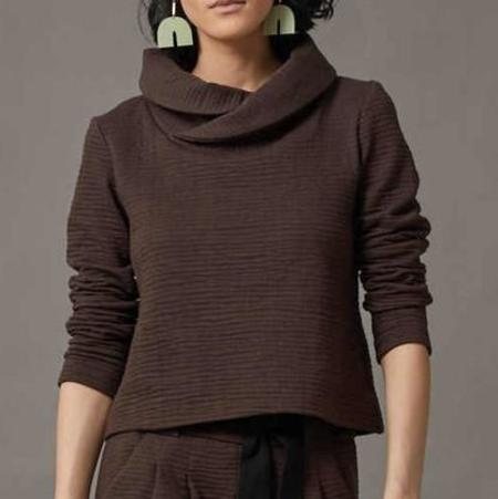 COKLUCH Riviere Sweater - Cassis Crinkle