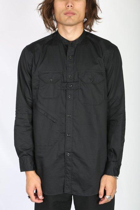 Engineered Garments Banded Collar Shirt - Black