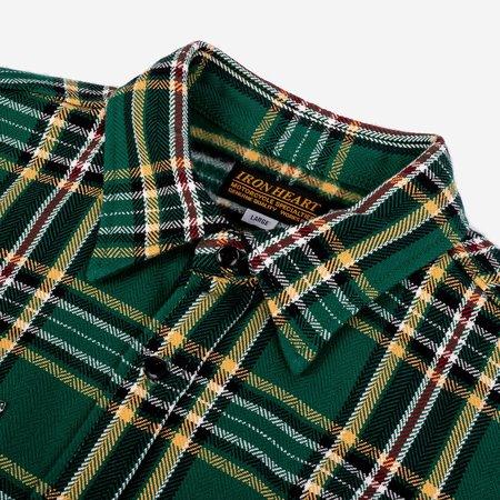 IHSH-301-GRN-WORK Ultra Heavy Flannel Work Shirt