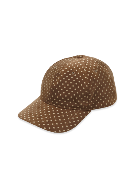 YMC Men's Cotton Velvet Dot Print Baseball Hat - Camel