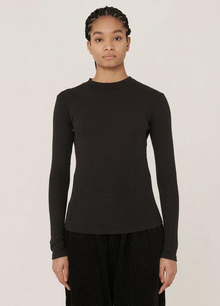 YMC High Rain Cotton Rib Slub Jersey Long-Sleeve T Shirt - Black