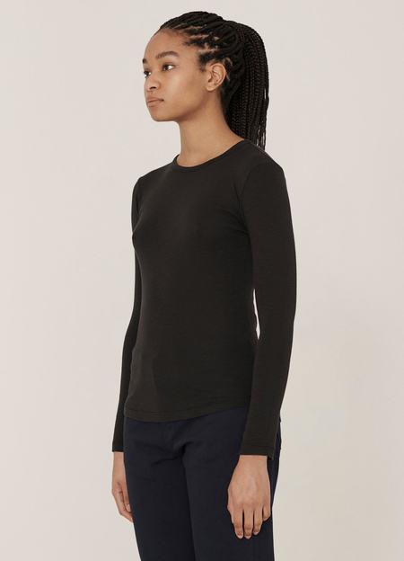 YMC Charlotte Rib Cotton Slub Jersey Long-Sleeve T Shirt - Black