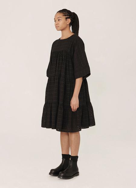 YMC Petite Paloma Broderie Anglaise Dress - Black