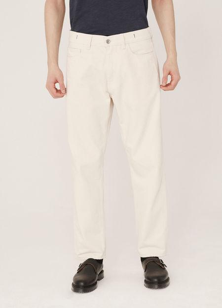 YMC Tearaway Selvedge Cotton Twill Jeans - Ecru