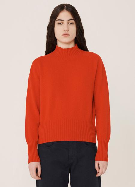 YMC Bryter Cashwool Knitted Jumper - Red