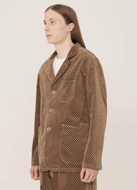 YMC Scuttlers Cotton Velvet Dot Print Jacket - Camel