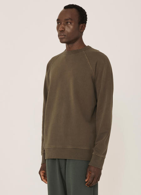 YMC Schrank Cotton Raglan Loopback Sweatshirt - Olive