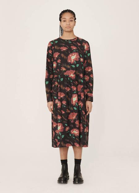 YMC Perhacs Rayon Cotton Floral Print Dress - Multi