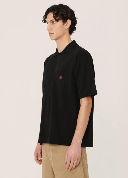 YMC Frat Organic Cotton Pique Cotton T Shirt - Black