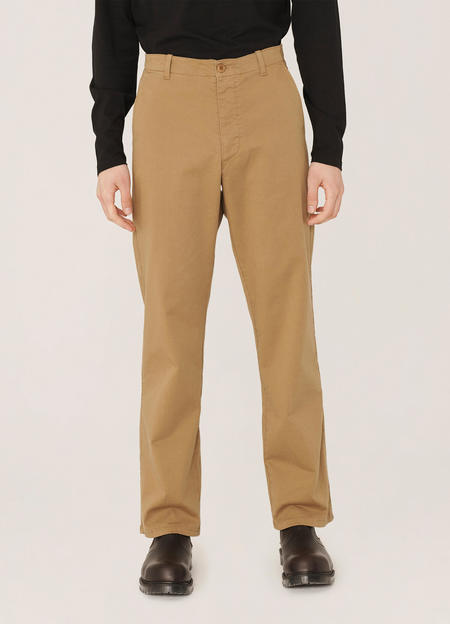 YMC Padre Cotton Twill Chino Trousers - Camel