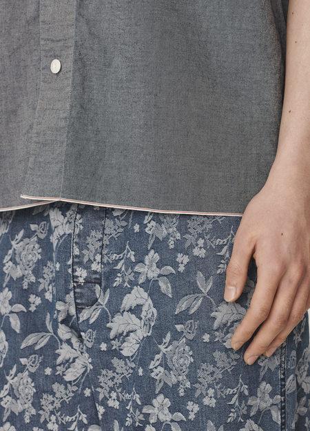 YMC Mays Cotton Selvedge Chambray Shirt - Indigo Rinse