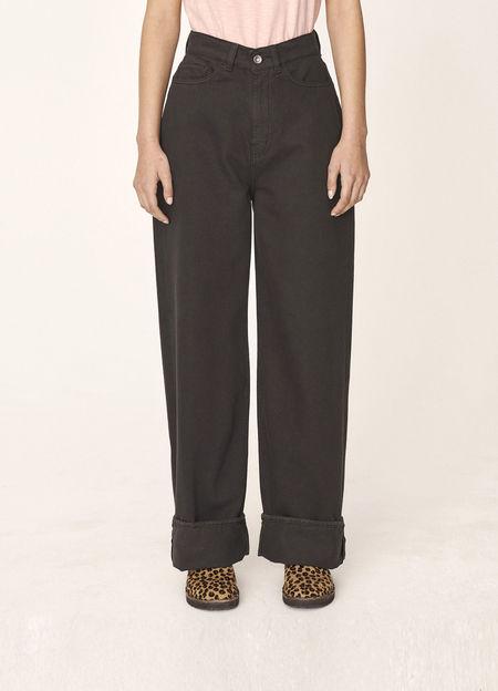 YMC Papa Organic Cotton Twill Jeans - Black