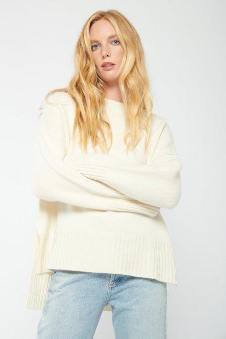 Doffer Boys Chunky Crew Neck Sweater - Cream