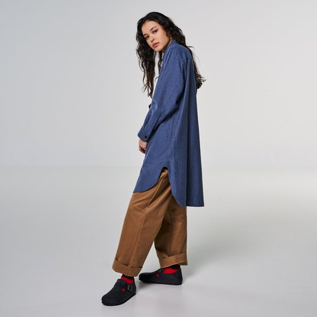 Girls of Dust Cyrus Shirt Cotton Wool Twill - blue