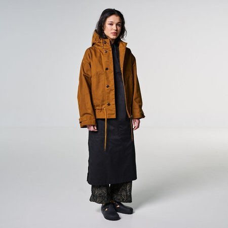 Girls of Dust Nuclear Rain Jacket - Waxed Herringbone Nicotine