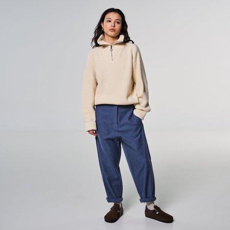Girls of Dust Pasha Cotton Wool Twill Pants - blue