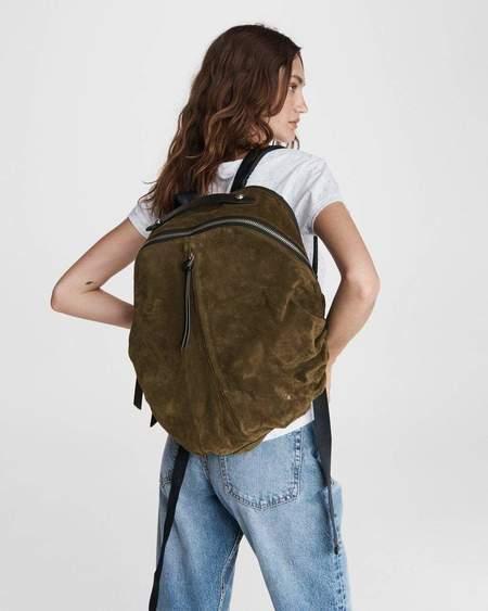 unisex Rag & Bone Commuter Backpack - Suede Olive Night
