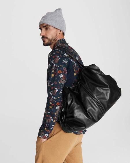 unisex Rag & Bone Commuter Overnighter bag - Black Leather