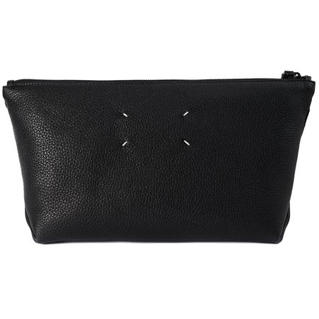 Maison Margiela Black leather carrying bag-Black