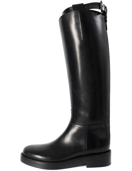 Ann Demeulemeester Black leather high boots